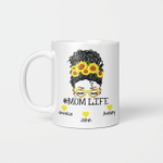 Personalized Mom Life Messy Bun Mother's Day Mug Gift For Mom