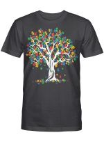 Tree Of Life Autism Awareness Month Funny Asd Supporter Gift Shirt