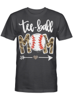 Teeball Mom Leopard Funny Teeball Mom Mother's Day 2021 Shirt