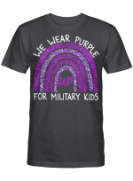 We Wear Purple Up For Military Kids Military Child Month Shirt