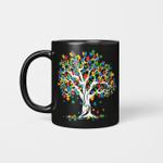 Tree Of Life Autism Awareness Month Funny Asd Supporter Gift Mug