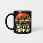 Vintage Reel Cool Pop-Pop Fishing Funny Grandpa PopPop Mug