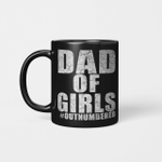 Dad Of Girls Out Numbered Happy Father's Day Mug Gift For Dad