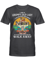 I Am A Grumpy Old Lady I Love Dogs More Than Humans Walk Away Vintage Shirt