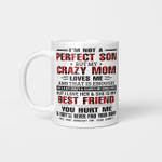 I'm Not A Perfect Son But my Crazy Mom Loves Me And That Is Enough Mother's Day Mug