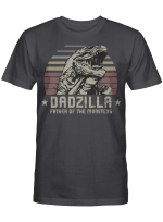 Dadzilla Father of The Monsters Retro Vintage Happy Father's Day Shirt Gift For Dad