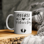 My First Mother's Day Pregnancy Announcement Funny Mug