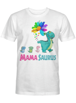 Mamasaurus T-Shirt Mama Saurus Dinosaur Funny Mother's Day Gift Shirt