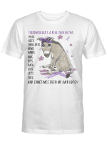 Funny Donkey Fibromyalgia's A Real Pain In The Body And Sometimes Even My Hair Hurts T-Shirt