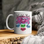 Mothers day shirt, Personalized Worlds best Mom with kids names Mug, Best Mom Mug, Gift for Mom, Gift for Her, Mom Mug, Wife Mug