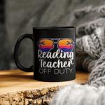 Reading Teacher Off Duty Sunglasses Beach Sunset Mug