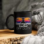 Kindergarten Teacher Off Duty Sunglasses Beach Sunset Mug