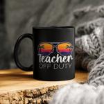 Teacher Off Duty Sunglasses Beach Sunset Mug