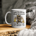 God Is Great BBQ Is Good And People Are Crazy Graphic Tee Mug Funny Camping Mug