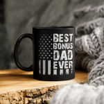 Best Bonus Dad Ever American Flag Father's Day Mug Gift For Dad Tee