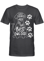 Happy Father's Day To The Best Dog Dad Personalized Dog Dad Shirt Gift For Dad