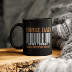 Horse Dad Scan For Payment Mug, Fathers Day Mug Gift For Father, Horse Dad Gift, Fatherhood Gift, Funny Riding Horses