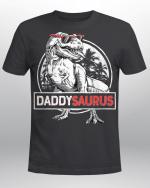 Daddysaurus T-Shirt Fathers Day Gifts T Rex Daddy Saurus Men