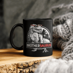 Brothersaurus Mug T Rex Brother Saurus Dinosaur Boys