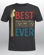 Guitarist Father Best Dad Ever Dad Chord Guitar Vintage Shirt