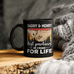 Personalized Daddy Grandpa And Kid Best Partners In Crime Gift For Dad Mug Father's Day Graphic Tee Mug