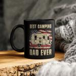 Best Camping Dad Ever American Flag Vintage Camper Gift Mug Gift For Dad, Father's Day Mug