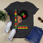 Juneteenth Celebrating 1865 Cute Black Girls Kids Shirt