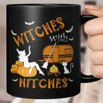Camping Witches With Hitches Halloween Mug Cat Lovers Mug