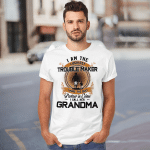 I Am The Luckiest Trouble Maker I Have The Best Partner In Crime I Call Her Grandma Grandson Funny T-shirt