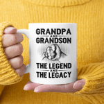 Grandpa And Grandson The Legend And The Legacy Mug Gift For Dad, Gift For Grandpa