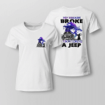 My Broom Broke So I Now Drive By A Jeep Halloween Shirt Halloween Costumes Tee Gifts - Printed On Both Sides