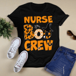 Halloween Nurse Boo Crew Witch T-shirt