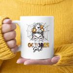 Funny October Girl Birthday Happy Halloween Mug