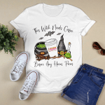 This Witch Needs Coffee Before Any Hocus Pocus T-Shirt Funny Halloween Graphic Tee Shirt