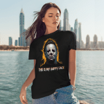 Michael Myers This Is My Happy Face Halloween Funny Shirts