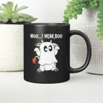Ghost Cow Moo I Mean Boo Funny Halloween Cow Boo Mug