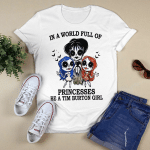 In A World Full Of Princesses Be A Tim Burton Girl Shirt Halloween Gifts