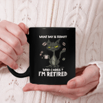 Black Cat What Day Is Today Who Cares I'm Retired Funny Cat Lovers Mug