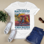I Found The Key To Happiness Surround Yourself With Chickens And Stay Away From Idiots T-shirt Animals Graphic Shirt, Gift For Animal Lovers