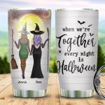 Best Friend Witches Halloween Personalized 20oz Stainless Steel Tumbler - Halloween Witch Besties Customized Tumbler