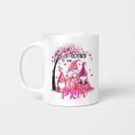 In October We Wear Pink Gnomes Breast Cancer Awareness Mug