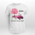 Pumpkin Pink Truck October Breast Cancer Awareness Month Shirt
