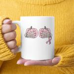 Save Your Pumpkins Breast Cancer Awareness Halloween Mug