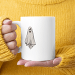 Ghost I Don't Give A Sheet Funny Halloween Gift Mug