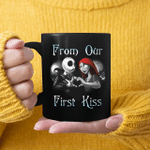 Jack Skellington And Sally From Our First Kiss Matching Couple Halloween Mug