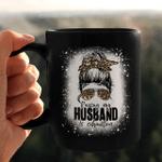 Raising My Husband Is Exhausting Leopard Messy Bun Bleached Mug