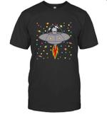 Rick Morty Spaceship In To Galaxy Science Geek Nerd Fan T shirt Men Women Hoodie Sweatshirt