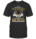 Never Underestimate An Old Woman Who Graduated From Mwc  Graduation Grandma Gift T shirt Men Women Hoodie Sweatshirt