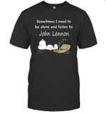 Snoopy Needs To Be Alone And Listen To John Lennon T shirt Men Women Hoodie Sweatshirt