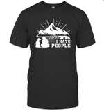 I Hate People And I Love Cycling Biking Camping With My Dog T shirt Men Women Hoodie Sweatshirt